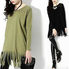 Women Ladies Loose Long Sleeve Cotton Casual Blouse Shirt Tops Fashion Blouse