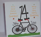 Lovely Personalised Handmade Grandson 14th 15th 16th Bicycle Birthday Card  New