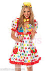 Ladies Costume Fancy Dress Up Circus Clown Jester Cosplay(509)Sz 6,8,10,12,14,16