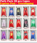 Party Pack - 30pcs superhero capes for kids Birthday party supplies (Only Capes)