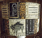Music Score Lampshade,lamp shade Instruments  Black gold cream with FREE GIFT