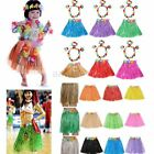 hula costumes - Kids Hawaiian Hula Dance Grass Skirt Lei Headband Wristband Fancy Dress Costume