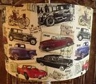 Vintage Car Lampshade Shabby Chic Lamp Shade Hipster Retro Boy's  Free Gift