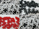 25 - 25mm Plastic Opaque Starflake Beads Made In USA - Color Choice