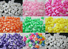 50 - 10x12mm Pearl Butterfly Pony Beads Made in USA - Color Choice