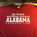t-shirt Alabama Crimson 16 time National Champs CHAMPION 5 sizes Pink Tide 2015