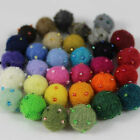 20mm (2cm) Beaded 100% Wool Felt Balls Handmade