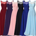 Women Long Sleeveless Bridesmaid Formal Gown Party Cocktail Evening Prom Dresses