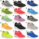 NEW TRAINERS WOMENS LADIES SNEAKERS LACE UP GYM PUMPS MESH FITNESS SIZE
