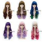 Mixed Colour Long Curly Fashion Halloween 65-70cm Synthetic Lolita Cosplay Wig