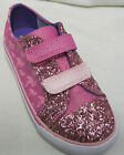 CLARKS GIRLS 'BRILL RACE' PINK CANVAS DOODLES