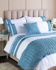 Luxury Super King Duck Egg Blue & White Duvet Set with 2 pillowcases