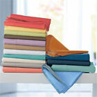 """Sale True 1000-TC 1PC Soft Fitted Sheet 100% Cotton Solid 22"""" Extra Deep Pocket"""