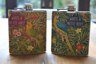 WHO'S A PRETTY BOY / GIRL KITSCH PARROT HIP FLASK PARADISE QUIRKY HIPSTER GIFT