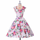 NEW STOCK 50's 60's Vintage Style Pin up ROCKABILLY Swing Housewife Dress SIZE M