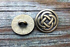2 Celtic Quad Knot Pewter Shank Buttons 7/8 Inch (22 mm)