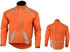 Mens Cycling /Running Rain Jacket High Visibility Breathable Wind/ Waterproof