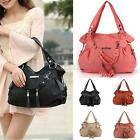 Fashion Women Leather Tassel Handbag Shoulder Bag Purse Messenger Shopper Tote
