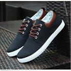 2016 Men's Canvas Sneakers Breathable Recreational Shoes Lace up Casual Shoes