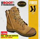 Oliver 34674 Work Boot. Steel Toe Safety. Suede Zip-Side Ankle Boot. SCUFF CAP!