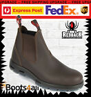Redback Work Boots UNPU Great Barrier Water Resistant Nevada Puma Brown UK SIZE