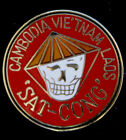 SAT CONG CAMBODIA VIETNAM VET LAOS HAT PIN US ARMY MARINES AIR FORCE NAVY USCG