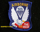 503rd AIRBORNE INFANTRY REGIMENT HAT PATCH US ARMY PIN UP PARACHUTE THE ROCK