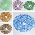 "3*6mm 12.5"" Colorful Crystal Glass Faceted Rondelle Loose Bead Fashion Jewellery"