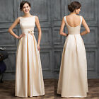 PLUS SIZE Mother of Bride Vintage Long Evening Prom Party Formal Ball Gown Dress