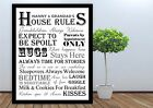NANNY & GRANDAD HOUSE RULES PRINT FRAME A4 OR A3  CHRISTMAS BIRTHDAY GIFT FAMILY