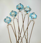 5 x Sparkly Bridal Crystal Hair Pins Made With SWAROVSKI ELEMENTS CRYSTALS