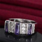 Fine Silver Alluring cubic zirconia Nice Pretty Charming Ring Size 7-9
