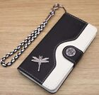 Dragonfly Wallet Leather Flip Handmade Stand Case Cover For iPhone 5SE 6S 7 Plus