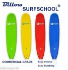 Billow Surf School 8' Soft Surfboard 8ft Soft Board with Leash & Fins Foam Board