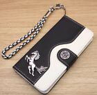 Running Horse Wallet Leather Flip Handmade Stand Case For Galaxy S5/S6/S7/Edge +