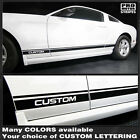 Ford Mustang 2010-2014 Rocker Panel Stripes Decals (Choose Color)