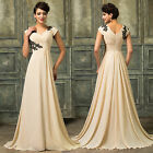 Vintage 50s Long Bridesmaid Evening Ball Gown Prom Wedding Party Dress Plus Size
