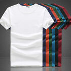 Mens Casual Cotton Short sleeve T-Shirt Outdoor Running Tops Crew Round Top Tee