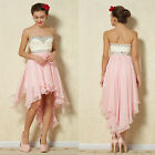 New Lace&Chiffon Beaded Evening High-Low Bridesmaids Prom ball Party dresses 16