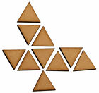 10 x Wooden Triangle Laser Cut MDF Blank Small Medium Large Craft Decorations