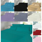 Flannelette Sheets Set Fitted Flat with Pillow case Single Double King Size Bed image