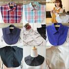 Women Detachable Elegant Dickey Blouse Shirt Cotton Fake False Choker Collar B22