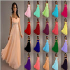 New Chiffon Cap Sleeve Formal Prom Party Bridesmaid Evening Dress Stock Size6-26
