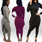 Sexy Women Autumn Long Sleeve Cocktail Party Bandage Bodycon Jumpsuit Rompers