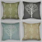 "Woodland Forest Trees Cushion Covers 4 Colours Available 17"" x 17"""