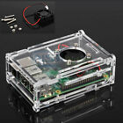 Clear Acrylic Case Shell Enclosure Box + Cooling Fan For Raspberry Pi 2 / 3 / B+