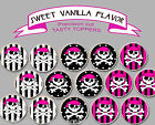 Girl Pirate Pirates Pink Birthday Party Wafer cupcake cake Toppers Cup Cake