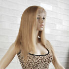 "Lace Front Wig 100% Remy Indian Virgin Human Hair Wigs Honey Blonde 8""-18"""