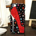 Fashion Red High-heeled Austria Diamond Crystal Case Cover For iPhone 5 5S/SE