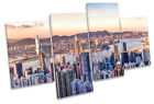 Victoria Harbour Hong Kong City MULTI CANVAS WALL ART Picture Print
